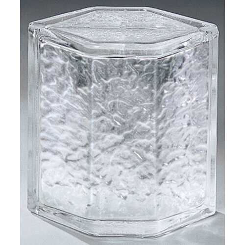 "Daltile Glass Block 8"" x 6"" Icescapes Hedron Corner Unit"