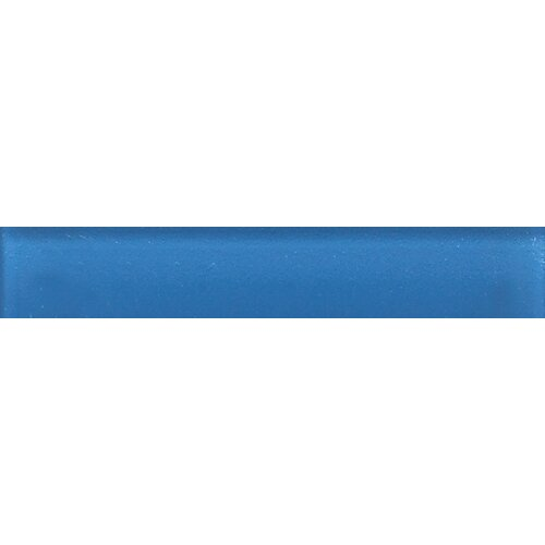 "Daltile Glass Reflections 6"" x 1"" Glossy Liner in Ultimate Blue"