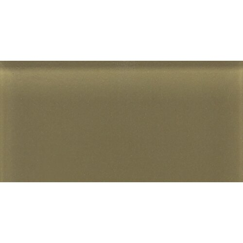 """Daltile Glass Reflections 4-1/4"""" x 8-1/2"""" Glossy Wall Tile in Olive Oil"""