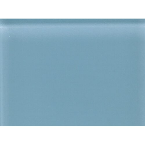 "Daltile Glass Reflections 11-1/2"" x 15-1/2"" Frosted Random Interlocking Accent in Blue Lagoon"