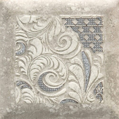 "Daltile Del Monoco 6-1/2"" x 6-1/2"" Glazed Decorative Tile in Leona Grigio"