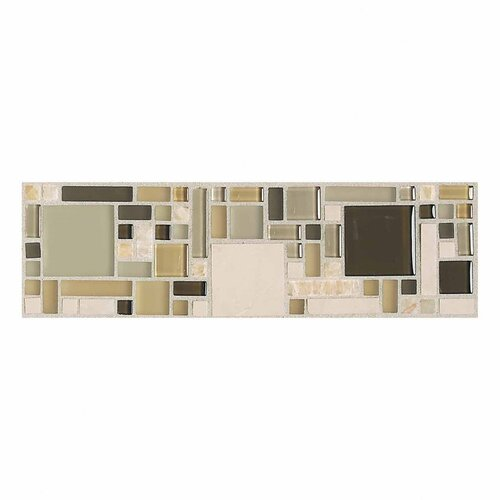 "Daltile Innova 12"" x 3"" Decorative Magic Border in Pebble Beach"