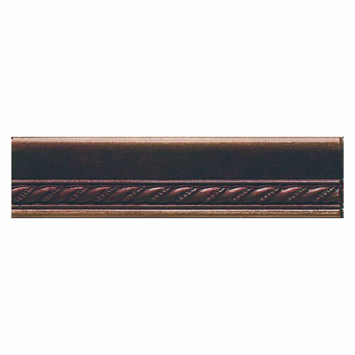"Daltile Ion Metals 6"" x 1.5"" Chair Rail Accent Tile Trim in Oil Rubbed Bronze"