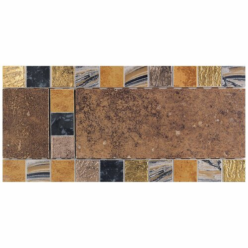 "Daltile Terra Antica 12"" x 6"" Decorative Accent Border in Rosso"