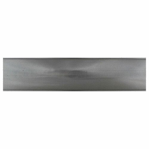 "Daltile Urban Metals 12"" x 2"" Spiral Decorative Border Tile in Stainless"