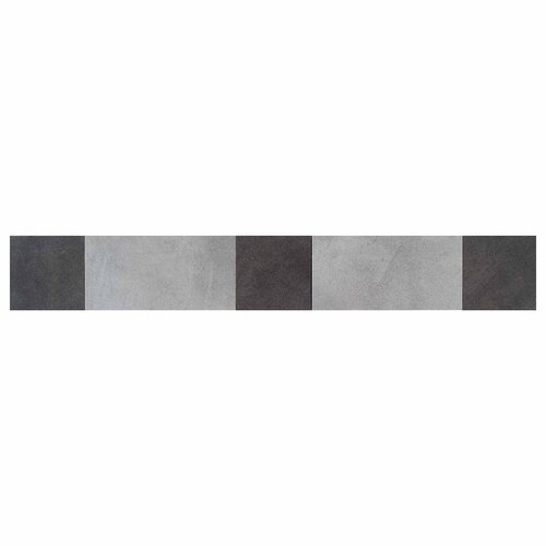 "Daltile Veranda 20"" x 3"" Decorative Border in Steel and Gunmetal"