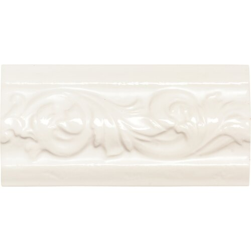 "Daltile Rittenhouse Square 6"" x 3"" Classic Decorative Accent in Kohler White"