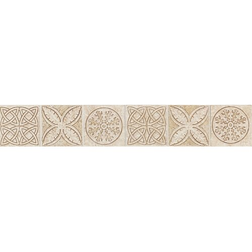 "Daltile Fashion Accents 12"" x 2"" Decorative Keltic Knots Accent Strip in Sand"