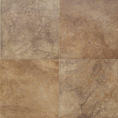 """Daltile Florenza 12"""" x 12"""" Plain Floor Tile in Brun"""