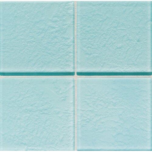 "Daltile Molten Glass 4 1/4"" x 4 1/4"" Wall Tile in Sea Breeze"