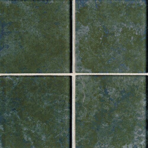 "Daltile Molten Glass 4 1/4"" x 4 1/4"" Multi-Colored Wall Tile in Rain Forest"