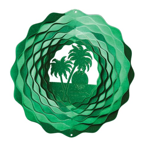 Iron Stop Palm Tree Wind Spinner