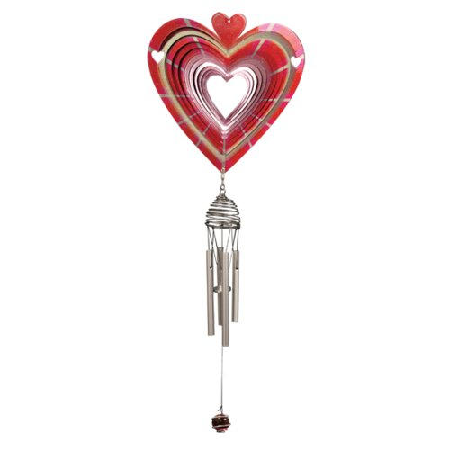Designer Heart Wind Chime