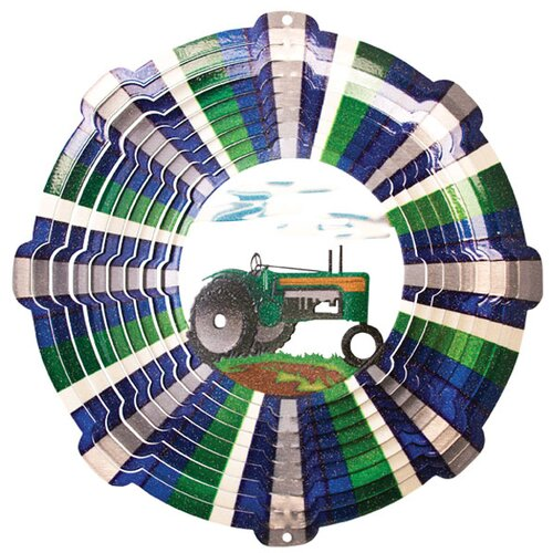 Designer Tractor Wind Spinner