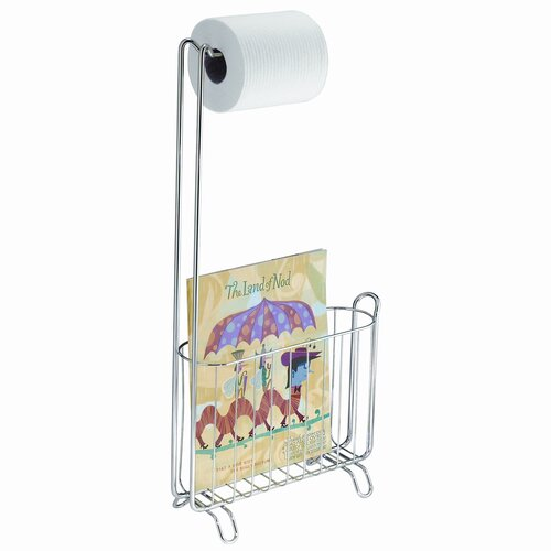 InterDesign Classico Free Standing Magazine and Toilet Paper Rack