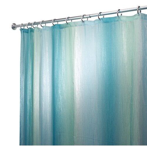 interdesign ombre polyester shower curtain reviews wayfair