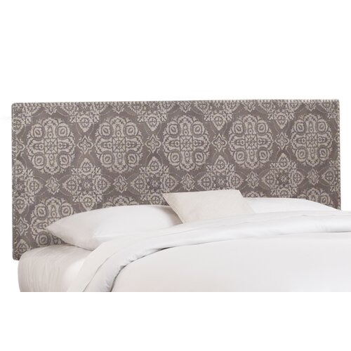 Skyline Furniture Nail Button Microsuede Headboard