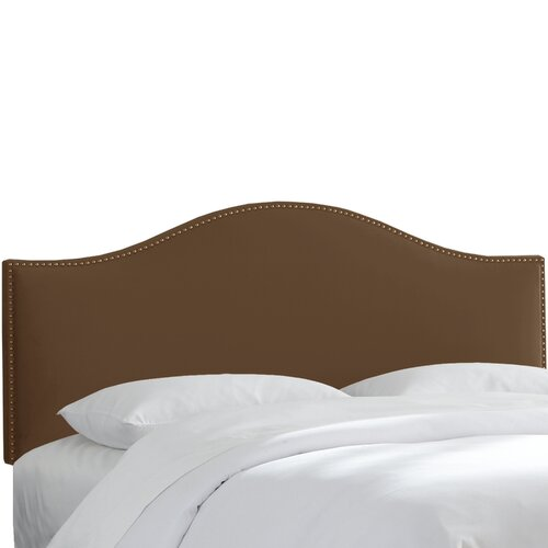 Skyline Furniture Velvet Nail Button Upholstered Headboard II
