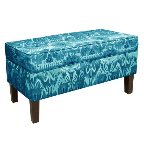 Skyline Furniture Fabric Wood Storage Bench