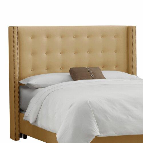 Skyline Furniture Velvet Nail Button Upholstered Headboard