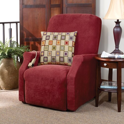Sure-Fit Stretch Pique Medium Recliner Slipcover