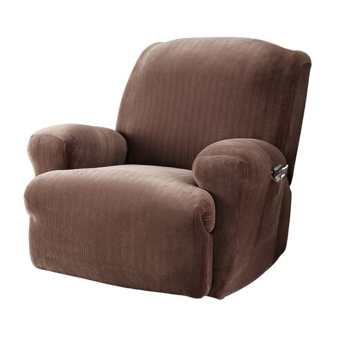 Sure-Fit Stretch Pinstripe Recliner Slipcover