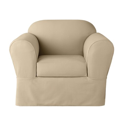 Sure Fit Twill Supreme 2 Piece Set Chair Slipcover