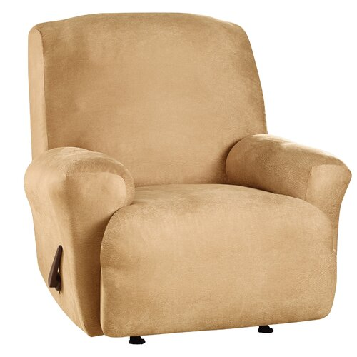 Sure-Fit Stretch Leather Recliner Slipcover