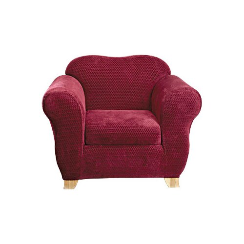 Stretch Royal Diamond Box Cushion Chair Slipcover