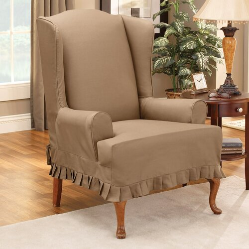 Sure-Fit Colette Wing Chair T-Cushion Slipcover