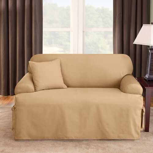 Sure-Fit Logan Loveseat T-Cushion Slipcover