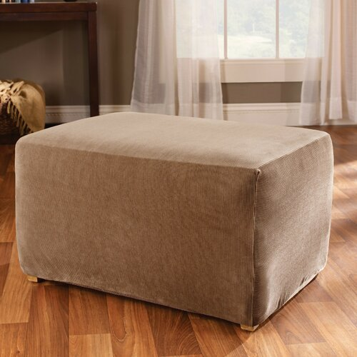 Sure-Fit Stretch Stripe Ottoman Slipcover