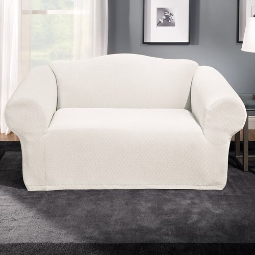 Sure-Fit Stretch Stone Loveseat Slipcover