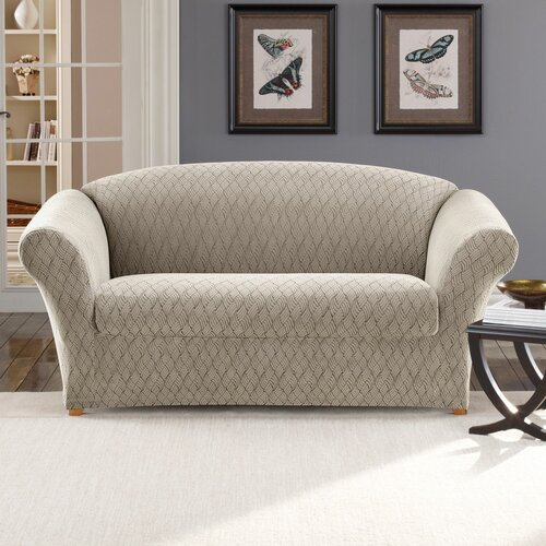 Sure-Fit Stretch Braid Loveseat Slipcover
