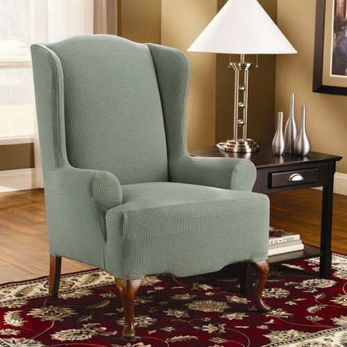 Sure-Fit Stretch Spencer Wing Chair Slipcover