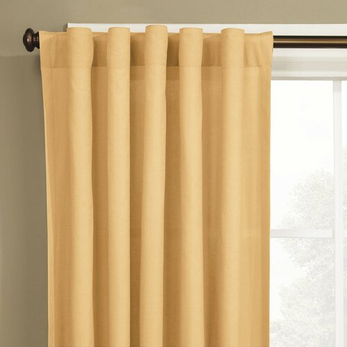 Sure-Fit Cotton Duck Rod Pocket Window Curtain Single Panel