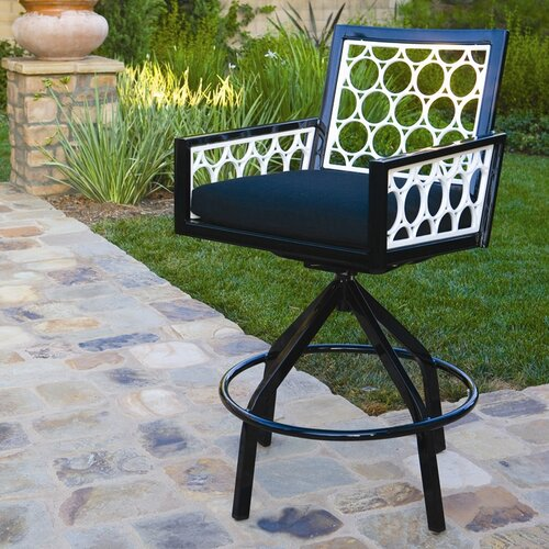 Koverton Parkview Cast Swivel Barstool with Cushion