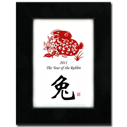 Oriental Design Gallery Year of the Rabbit 03 Framed Graphic Art