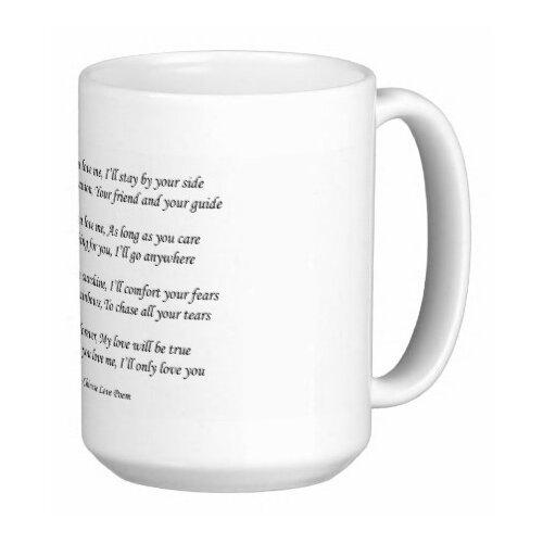 Oriental Design Gallery Chinese Love Poem As Long As You Love Me 15 oz. Coffee / Tea Mug