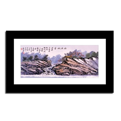 Village and Waterfall by Lin Hung Tsung Framed Painting Print