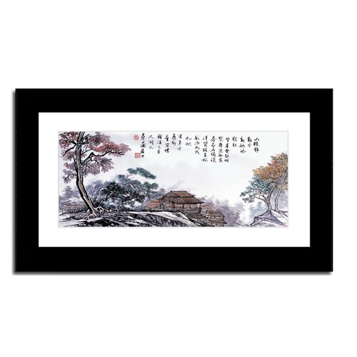 Oriental Design Gallery Mountain Village by Lin Hung Tsung Framed Painting Print