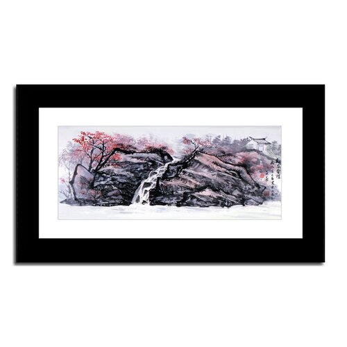 Oriental Design Gallery Waterfall by Lin Hung Tsung Framed Graphic Art