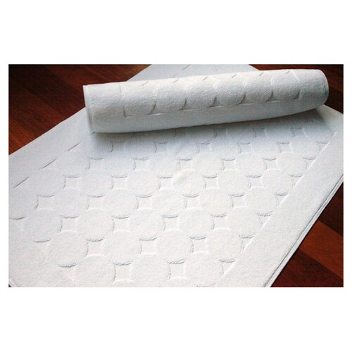 Linum Home Textiles 100% Turkish Cotton Circle Design Bath Mats (Set of 2)