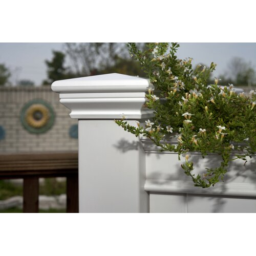 New England Arbors Cambridge Raised Planter in White