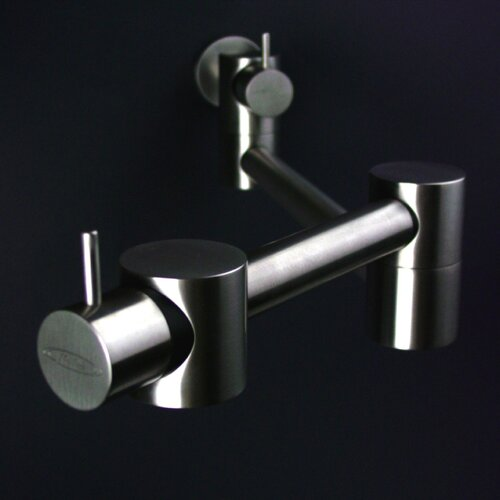 Mina Two Handle Wall Mounted Pot Filler Kitchen Faucet