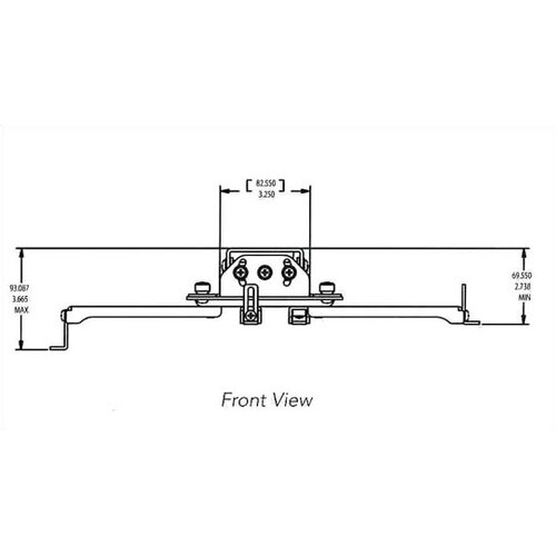 Chief Manufacturing RPA Series Universal Inverted Projector Ceiling Mount