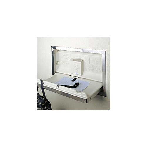 Koala Kare Products Stainless Steel Horizontal Baby Changing Station with Recess Mount