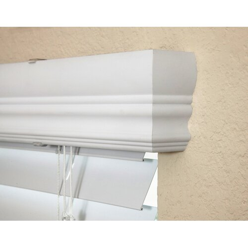 """Fauxwood Impressions Insulation Blind in White - 54"""" H"""