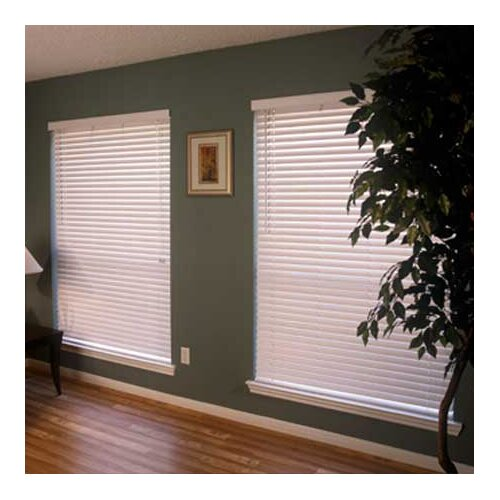 Faux Wood Energy Efficient Horizontal Blind