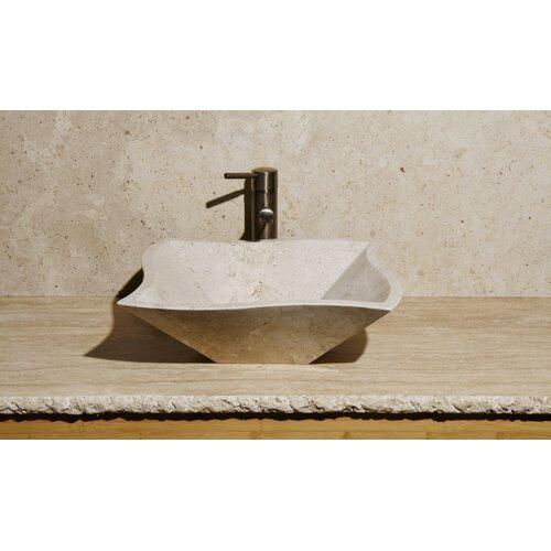 Curve Shape Vessel Bathroom Sink